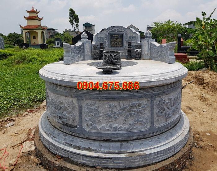 hình ảnh mộ đá tròn đơn giản