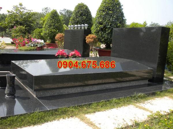 Mẫu mộ đá granite đơn giản mà đẹp