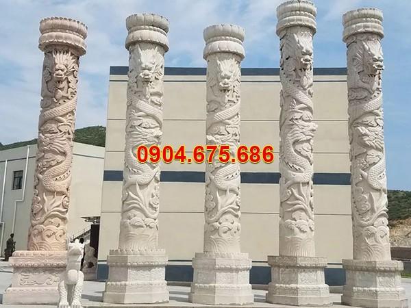 Cột hiên đá trắng đẹp