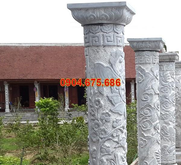 Cột đá trắng biệt thự nhà riêng