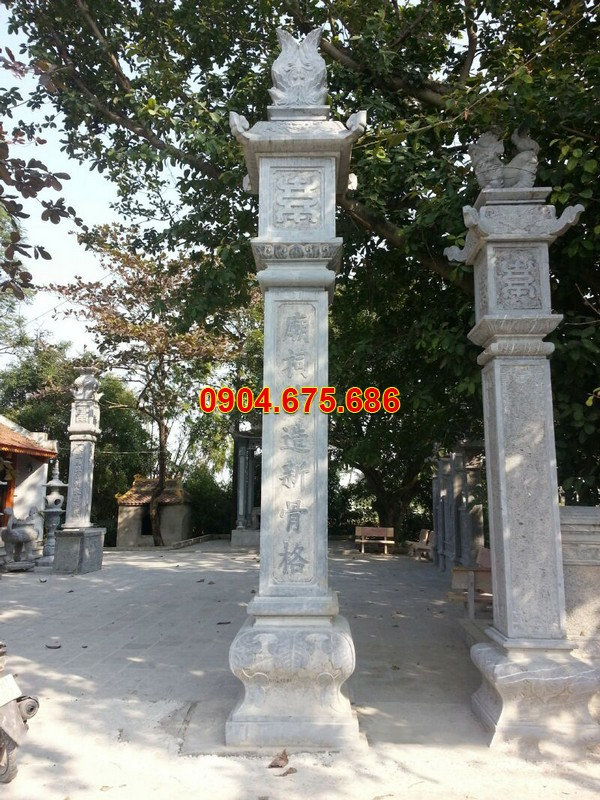 Giá cột đá đồng trụ nhà thờ họ
