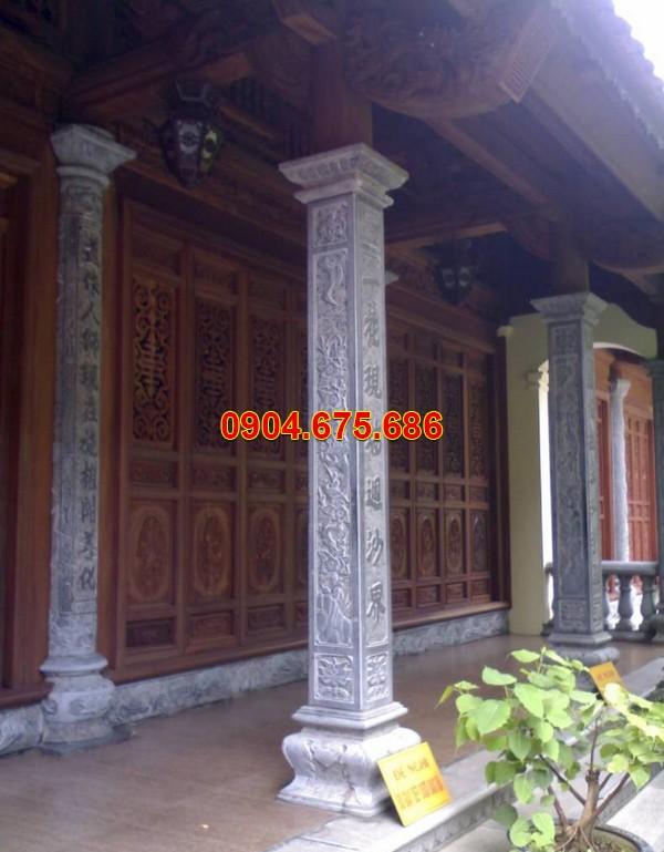 Cột hiên nhà bằng đá xanh
