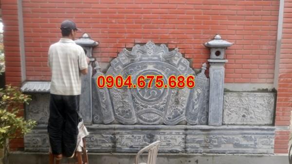 Bình phong đá xanh đen Nam Định