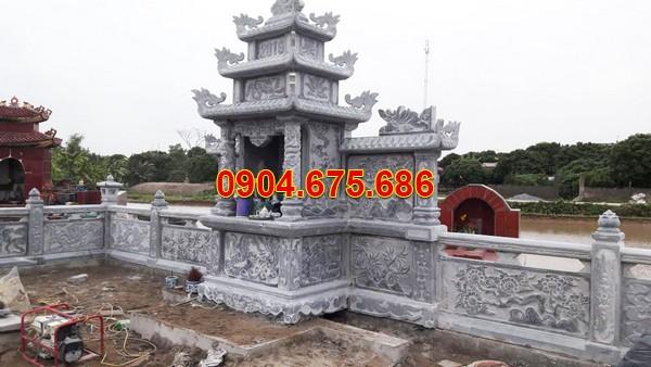 Làm kiểu nhà mồ đẹp bằng đá ở Tiền Giang