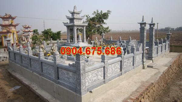 Mẫu khu nhà mồ bằng đá ở Bình Phước