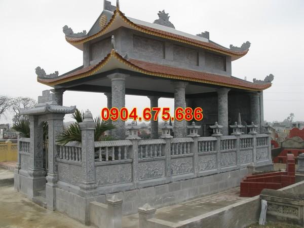 Mẫu khu nhà mồ bằng đá ở Hậu Giang