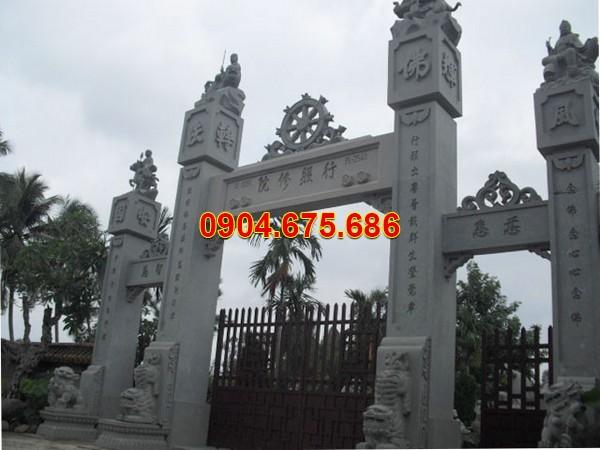Mẫu cổng tam quan đền đẹp bằng đá