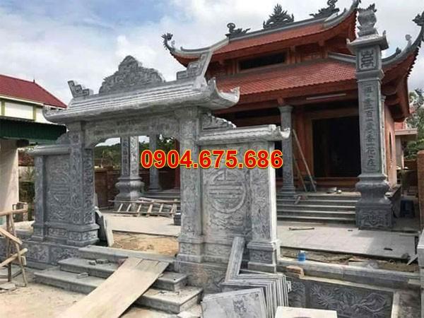 Cổng chùa thiết kế đơn giản
