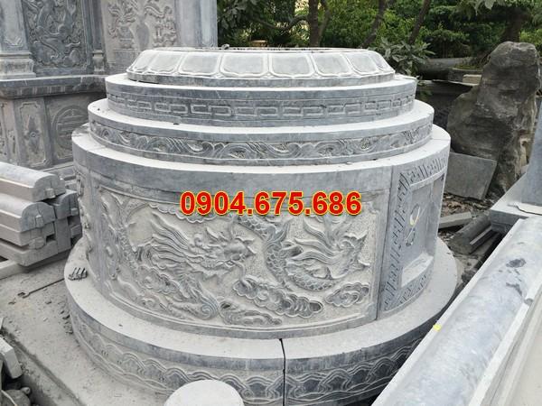 Mẫu mộ tròn bằng đá trắng
