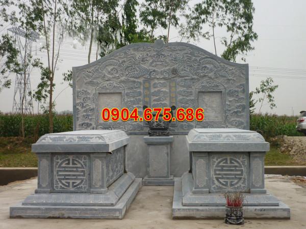 Mẫu mộ đôi đẹp chuẩn phong thuỷ