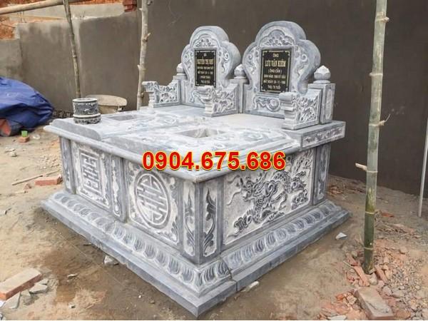 Mẫu mộ đá đôi liền kề đẹp
