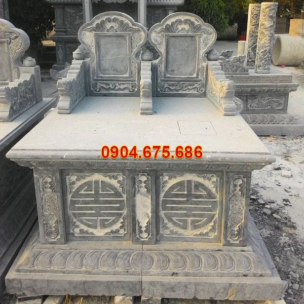 Mẫu mộ liền kề bằng đá xanh tự nhiên