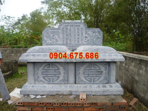 Mẫu mộ đôi xây sẵn