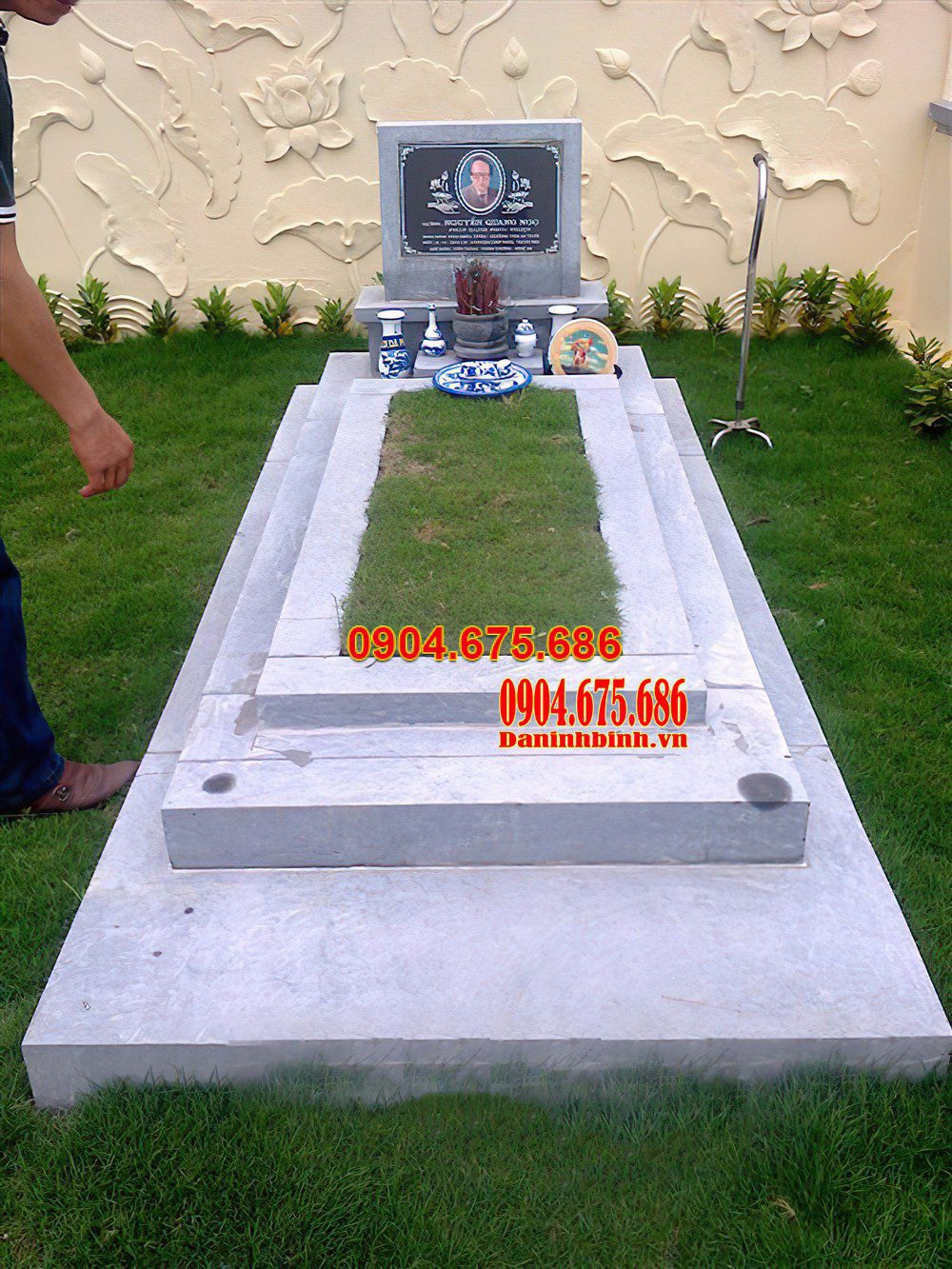 mộ tam cấp bằng đá trắng, mộ tam cấp bằng đá trắng đẹp