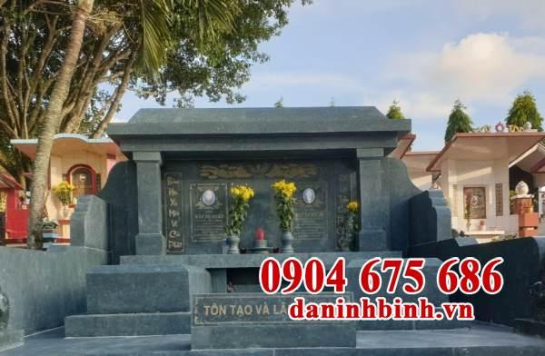 Mẫu mộ đá xanh rêu đẹp