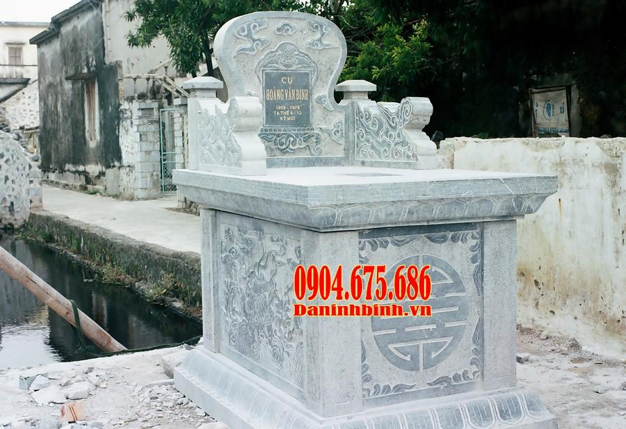 Mẫu mộ đá tam sơn đẹp thiết kế đơn giản