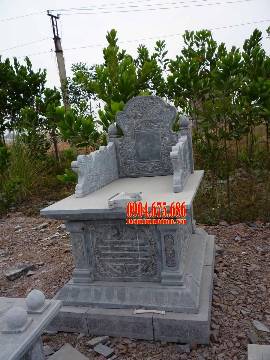 Mẫu mộ đá bành chạm khắc tinh xảo, hoa văn đẹp mắt
