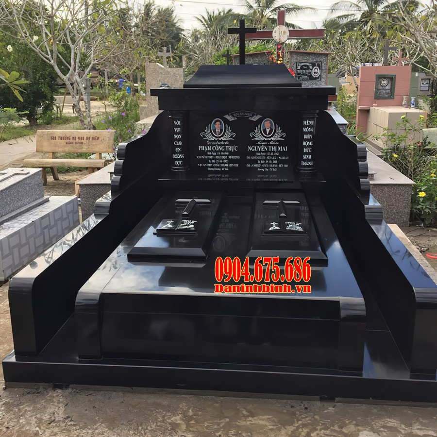 Mẫu mộ đôi đá hoa cương đẹp nhất Việt Nam