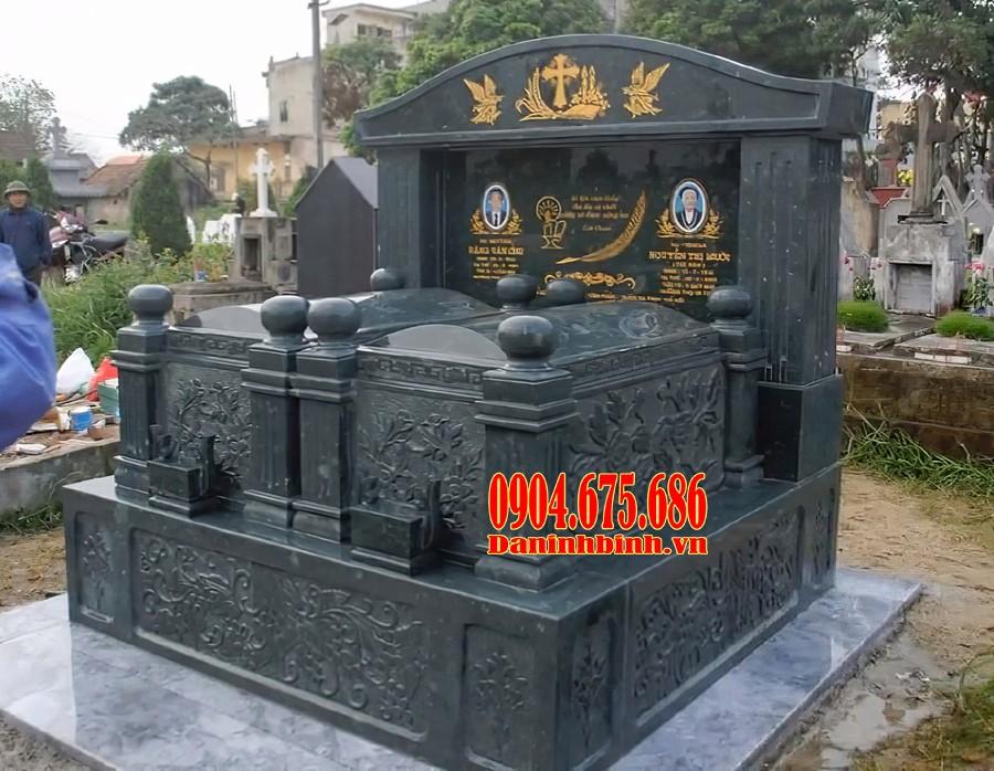 Mẫu mộ đôi đá granite đẹp