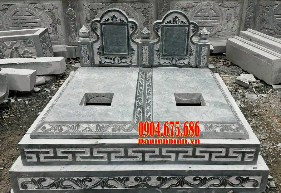 Mộ đôi bằng đá xanh đen Thanh Hoá