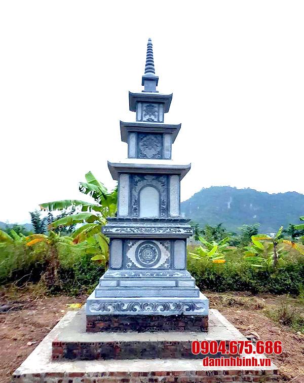 Mẫu mộ đá hình tháp đẹp