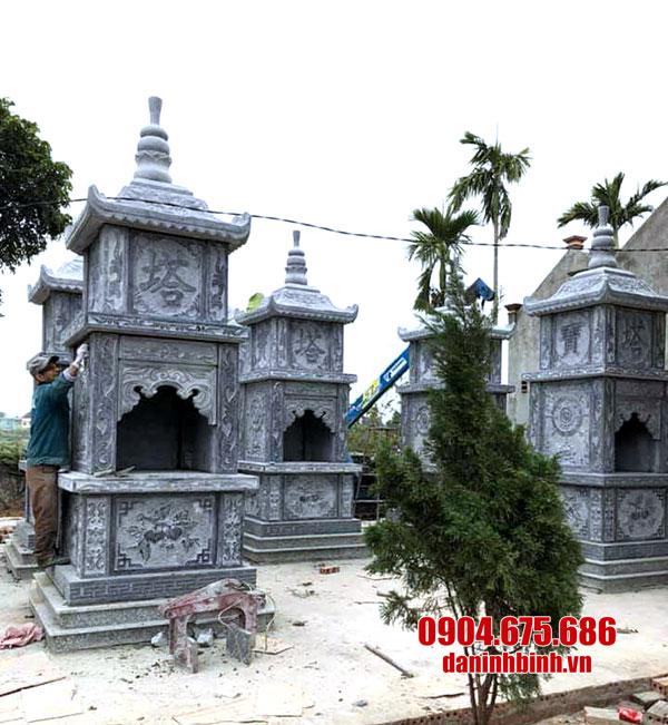 15 Hình ảnh mẫu mộ đá hình tháp đẹp của cơ sở Đá Ninh Bình