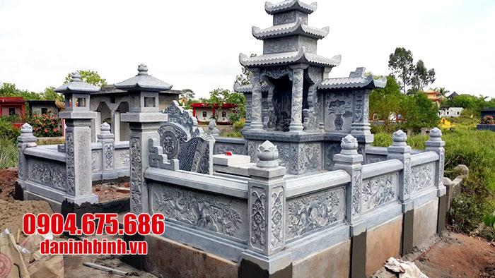 thiết kế thi công khu lăng mộ bằng đá đẹp