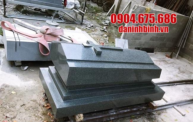 mẫu mộ đá granite nguyên khối