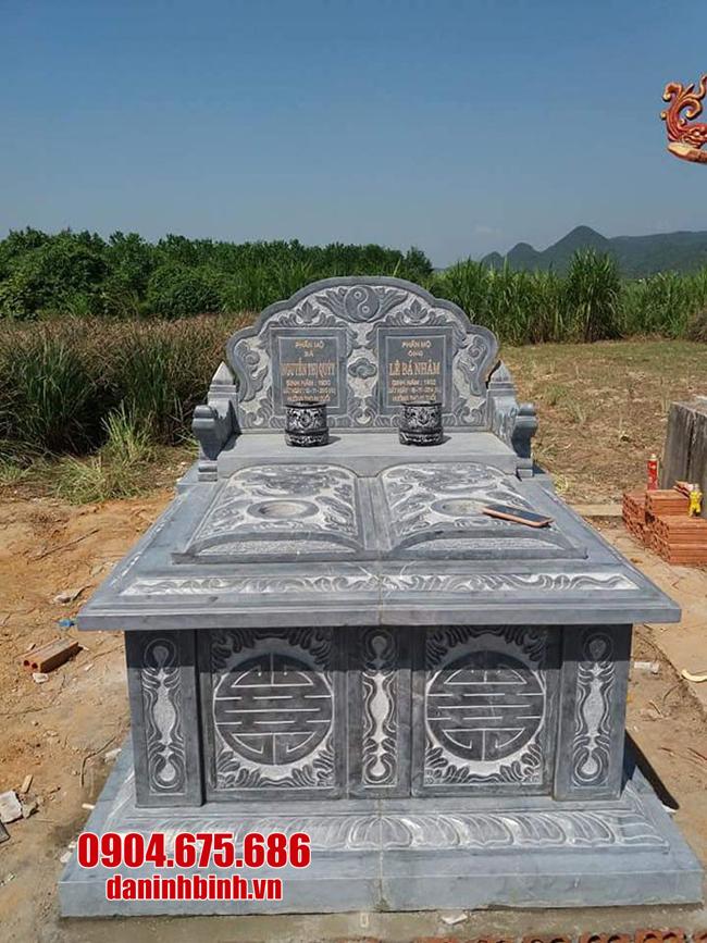 mẫu mộ đôi đá ninh bỉnh đẹp