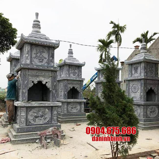mẫu mộ tháp bằng đá thanh hóa