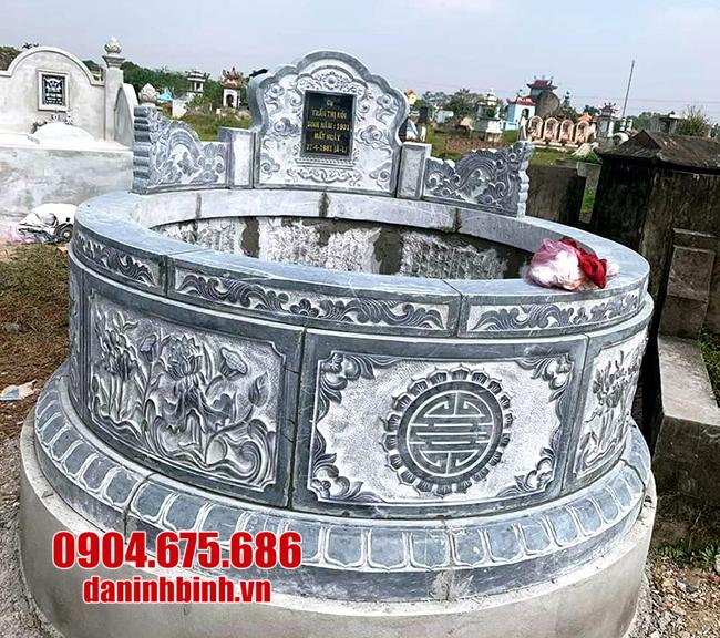 mộ tròn đá xanh đẹp