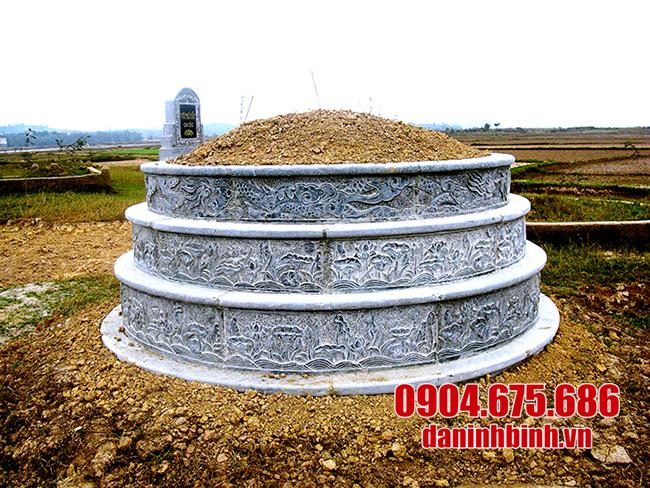 mộ tròn đá xanh