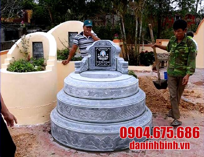 mộ tròn bằng đá xanh đẹp