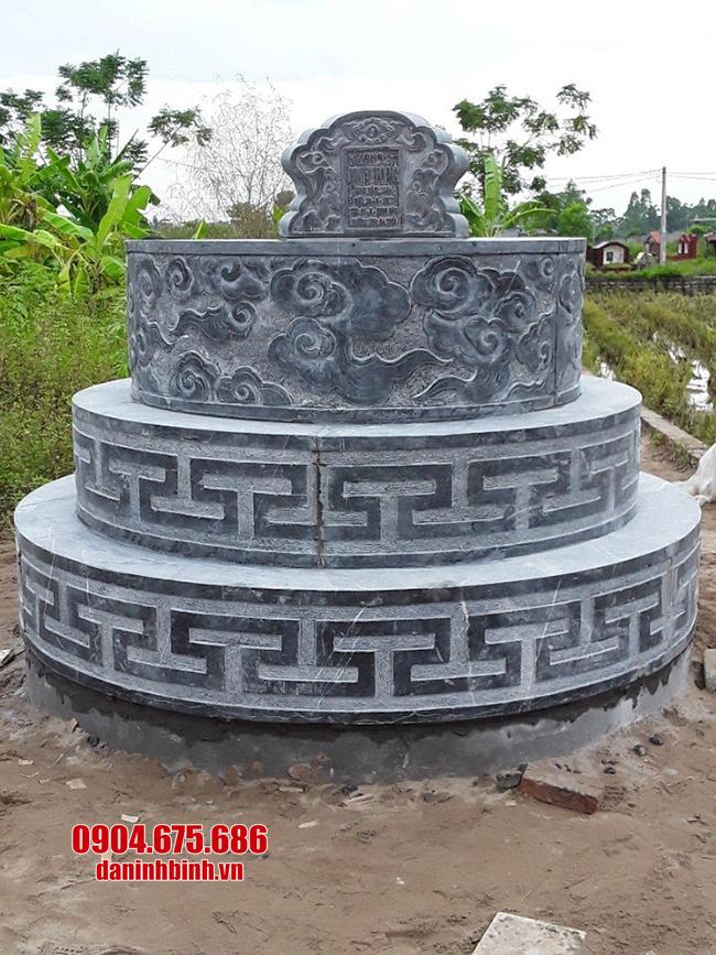 mẫu mộ tròn bằng đá xanh đẹp nhất