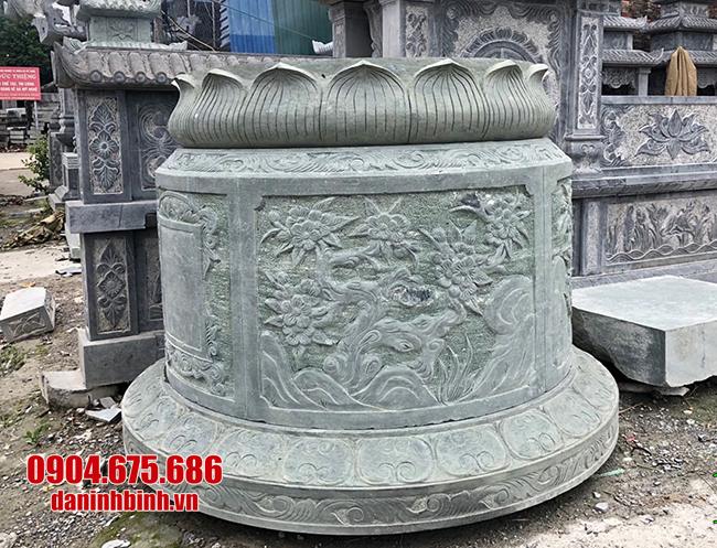 mẫu mộ tròn bằng đá xanh rêu đẹp nhất