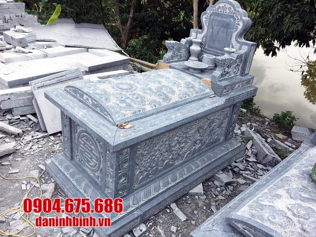 lắp đặt mộ bành đá đẹp tại tây ninh