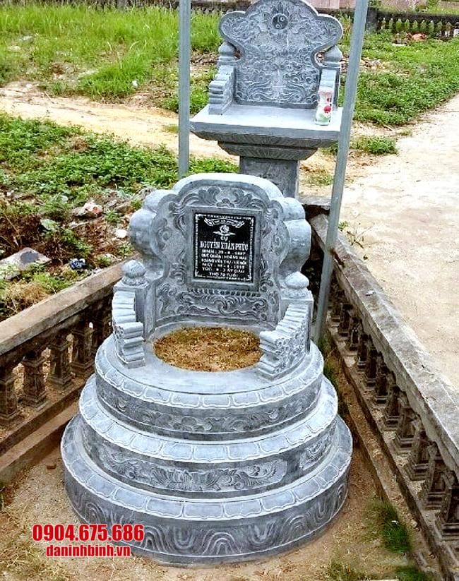 lắp đặt mộ đá tròn đẹp tại bạc liêu