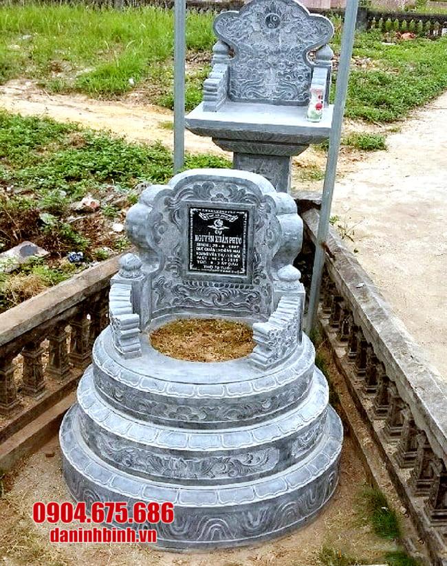 lắp đặt mộ đá tròn đẹp tại tây ninh