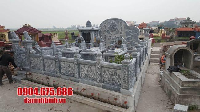 mẫu khu lăng mộ bằng đá