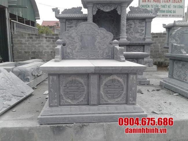 mẫu mộ đá đôi lắp đặt tại Long An