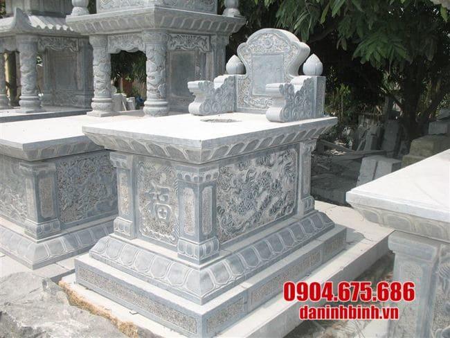 mẫu mộ bành đá lắp đặt tại Long An