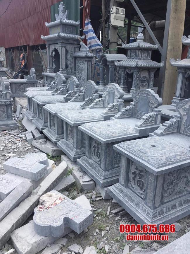 mẫu mộ tam sơn bằng đá lắp đặt tại Long An