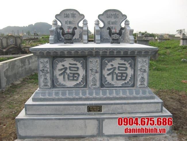 mộ đá đôi lắp đặt tại Long An