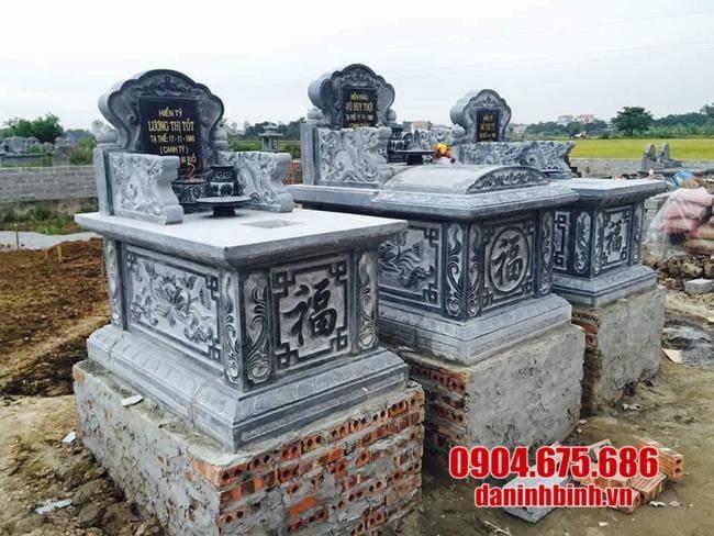 mộ bành đá lắp đặt tại Long An