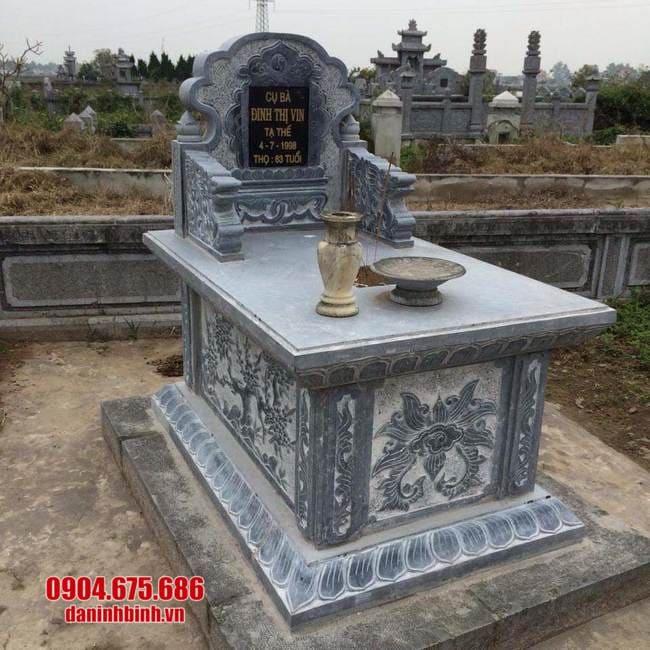 mẫu mộ bành đá đẹp tại bạc liêu
