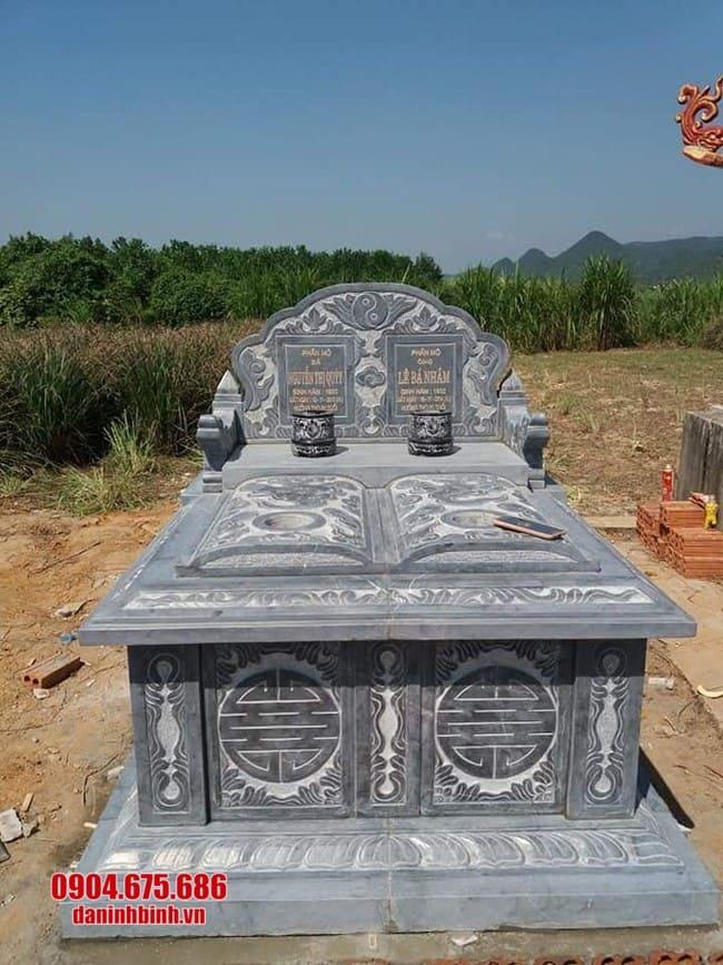 mẫu mộ đá đôi đẹp nhất tại bạc liêu