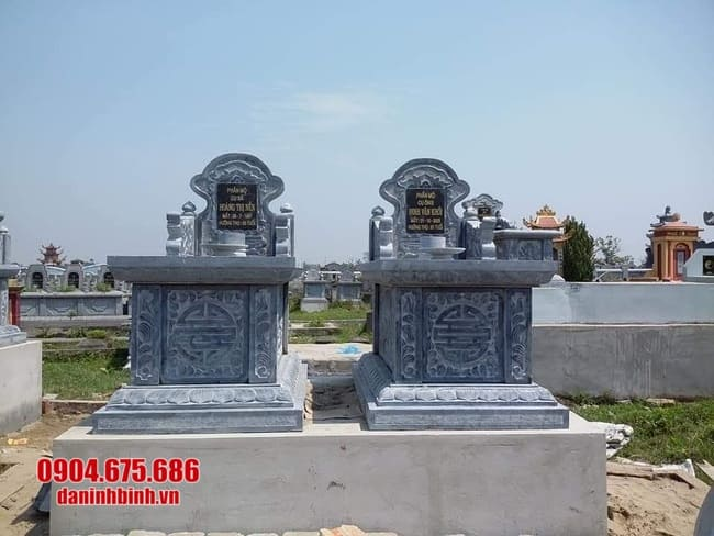 mẫu mộ đá đôi đẹp tại Quảng Trị