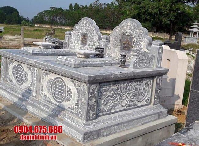 mẫu mộ đá đôi đẹp tại bạc liêu