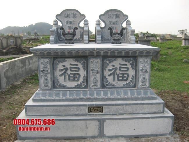 mẫu mộ đá đôi đẹp tại bình phước