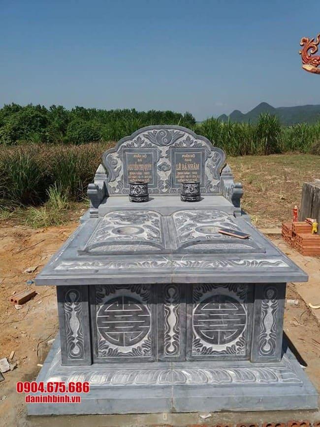 mẫu mộ đá đôi tại Quảng Bình đẹp